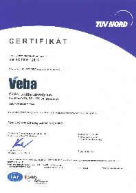 Certifikát EN ISO 9001