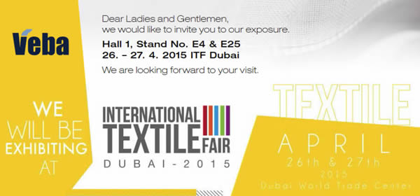 Exhibition Stand Invitation : Veba czech manufacturer of top quality clothing fabrics